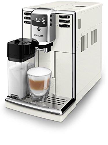 Philips 5000 Series Kaffeemaschine (freistehend, Espressomaschine, 1,8 l, Kaffeebohne, Mahlwerk, integriertes Mahlwerk, Weiß)