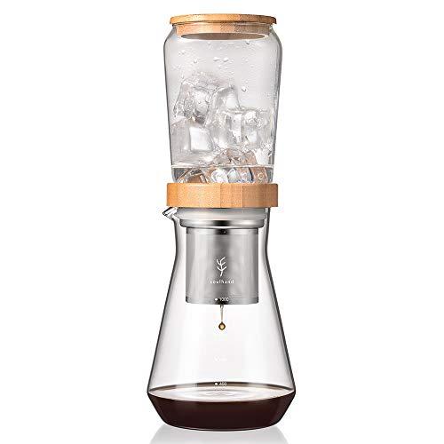 SOUL HAND Soulhand Cold Brew Kaffeebereiter kaltgebrühten Kaffee 6-8 Tassen mit Einstellbarer Durchlaufventil BPA-freier Tropfer, Edelstahlfilter lose Blätter Teekanne Genießen Sie säurearmen Kaffee