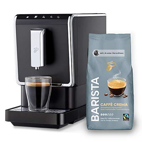 Tchibo Kaffee Vollautomat Esperto Caffè 1.1 (19 bar, 1470 Watt), Anthrazit (inkl. 1Kg Barista Caffè Crema)