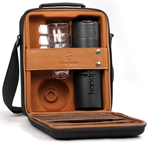Handpresso 48242 Tasche / Koffer schwarz für Handpresso Pump mit Thermosflasche und 3 unzerbrechlichen Tassen