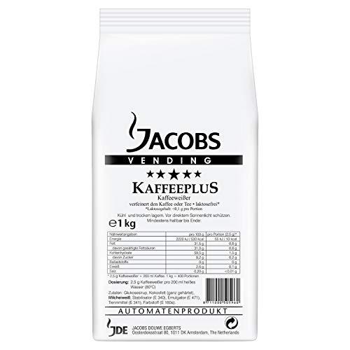 Jacobs Professional Kaffeeplus, 1000g Instant Kaffeeweisser, laktosefrei, auf pflanzlicher Basis, ideal für Heißgetränkeautomaten