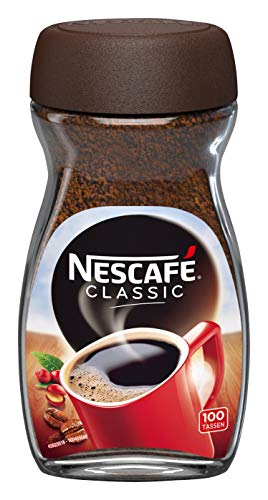 NESCAFÉ CLASSIC löslicher Bohnenkaffee, mitteldunkel geröstete Kaffeebohnen, koffeinhaltig, kräftiger Geschmack & intensives Aroma, 1er Pack (1 x 200g)
