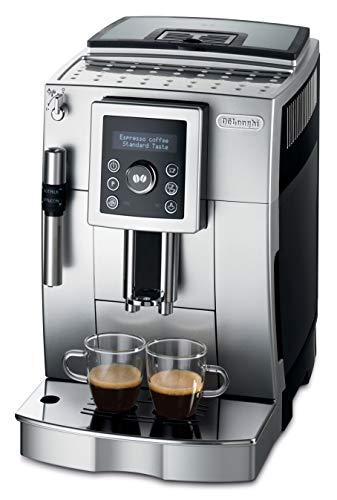 De'Longhi ECAM 23.420.SB Kaffeevollautomat mit Milchaufschäumdüse für Cappuccino, Espresso Direktwahltaste und Digitaldisplay mit Klartext, 2-Tassen-Funktion, 1,8 Liter Wassertank, silber/schwarz
