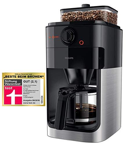 Philips HD7767/00 Grind und Brew Filter Kaffeemaschine, Kunststoff, Edelstahl/Schwarz