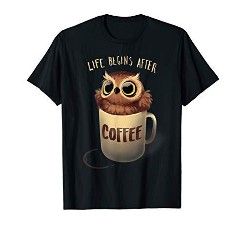 Nachteule Kaffee T-Shirt