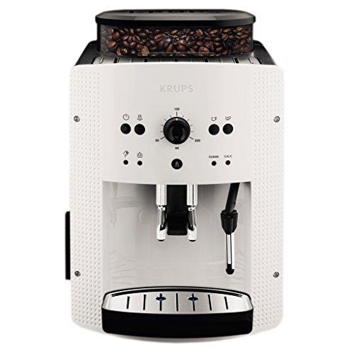 Krups EA8105 Kaffeevollautomat, automatische Reinigung, 2-Tassen-Funktion, Milchsystem mit CappucinoPlus-Düse, 15 bar, Espresso-Kaffee-Maschine, Kaffeeautomat in weiß
