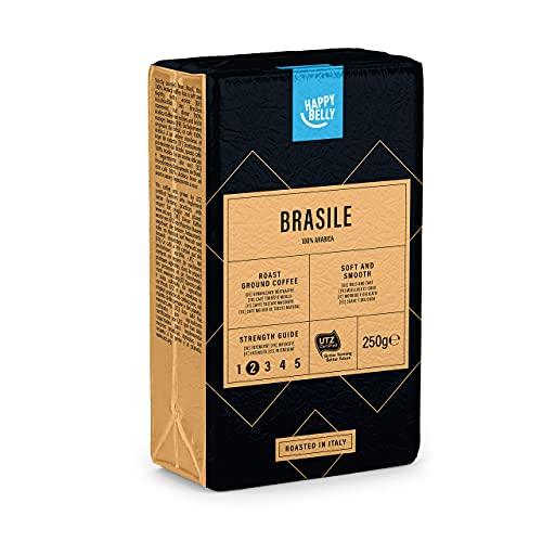 Amazon-Marke: Happy Belly Gemahlener Röstkaffee 'BRASILE' (4 x 250g)