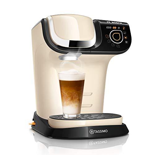 Bosch TAS6507 Tassimo My Way Kapselmaschine, über 70 Getränke, Personalisierung, vollautomatisch, BRITA Wasserfilter, 1500 W, creme