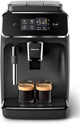 Philips EP2220/10 SensorTouch Benutzeroberfläche Kaffeevollautomat, 2 Kaffeespezialitäten, schwarz/schwarz-gebürstet