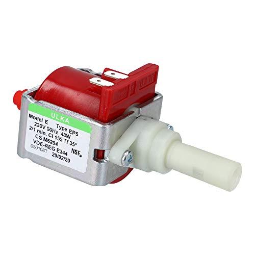 DL-pro Pumpe passend für DeLonghi Ulka EP5 48W wie 5132106900/5113211281 Wasserpumpe für Kaffeemaschine De'Longhi ESAM EAM Magnifica Philips OneTouch