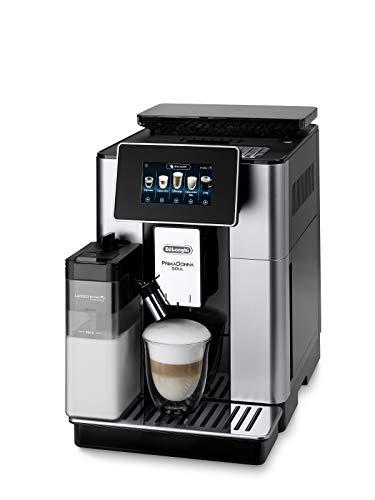De'Longhi PrimaDonna Soul ECAM 612.55.SB Kaffeevollautomat mit Milchsystem & Bean Adapt Technologie, 18 Rezepte per Knopfdruck, mit Farbdisplay & App-Steuerung, silber