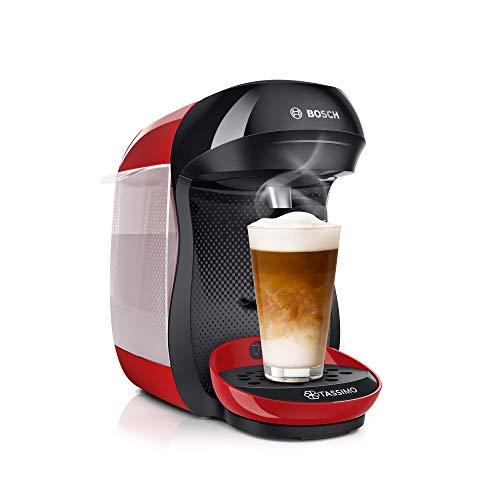 Tassimo Happy Kapselmaschine TAS1003 Kaffeemaschine by Bosch, über 70 Getränke, vollautomatisch, geeignet für alle Tassen, platzsparend, 1400 W, rot