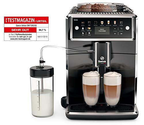 Saeco SM7580/00 Kaffee-automat, Klavierlackfront Kunststoffgehäuse, 1.7 liters, Schwarz