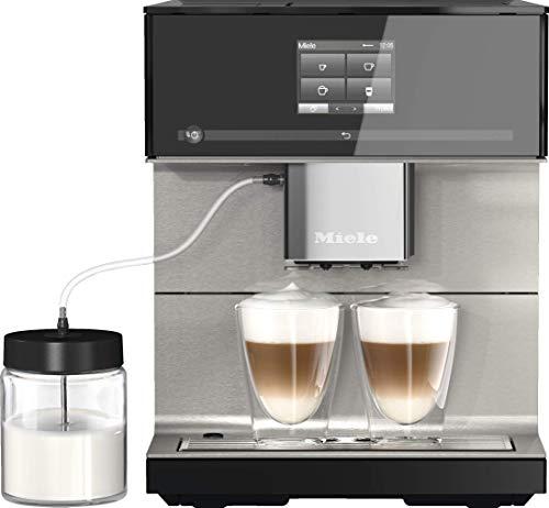 Miele CM 7550 CoffeePassion Kaffeevollautomat – OneTouch for Two, AromaticSystem, 10 Genießerprofile, DoubleShot, CupSensor, WLAN-fähig, automatische Entkalkung u. v. m. – Obsidianschwarz