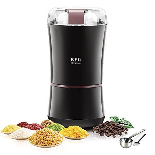 Elektrische Kaffeemühle 300W, Mahlwerk für Samen, Leinen, Nüsse, Pfeffer, Gewürze, Kaffeesamen u. a., mit Klingen aus Edelstahl