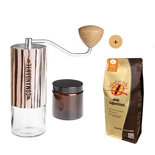 Comandante Handmühle C40 MK3 Nitro Blade Zebra Aktionspaket mit 500 gr. Filterkaffee von Mondo del Caffè