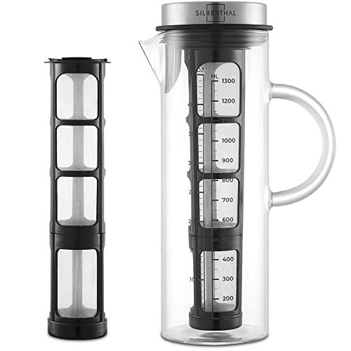 SILBERTHAL Kaffeebereiter - Cold Brew Coffee Maker für kaltgebrühten Kaffee oder Tee - 1.3l