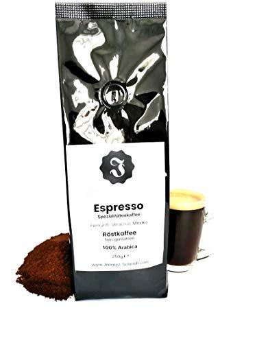 Spezialitätenkaffee aus Mexiko 250g| Espresso fein gemahlen| Sortenrein 100% Arabica| Langsame Trommelröstung| Säurearm und ideal für Siebträger| Frische Ernte| Ohne Zusatzstoffe