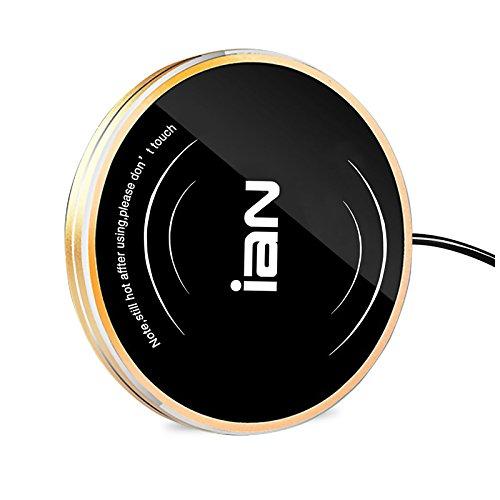 WorldWind Für größere Ansicht Maus über das Bild ziehen 5V USB Multifunktionale Becher-Wärmehaltungsplatte, Büro, PC, Notebook, Tassenwärmer, Tee, Kaffee Schwarz (golden)