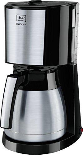 Melitta 1017-08 Enjoy Toptherm Filter-Kaffeemaschine, Edelstahl, schwarz
