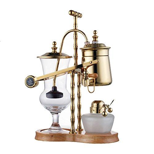 ufengke® Königlich Edelstahl Kaffeekanne Belgien Kaffeekanne Set, Golden