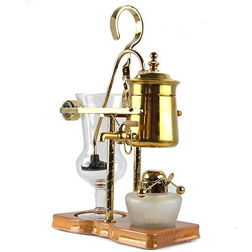 Siphonic Kaffeekanne - Belgien Royal Family Balance Siphon Kaffeemaschine Klassisch und Elegant Retro Design Leicht zu reinigen Gold