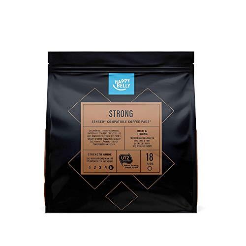 Amazon-Marke: Happy Belly Kaffee-Pads Strong kompatibel mit Senseo*, 90 Pads (5x18 )