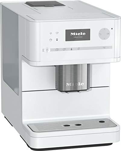 Miele CM 6150 Kaffeevollautomat (OneTouch- und OneTouch for zwei-Zubereitung, vier Genießerprofile, automatische Spülprogramme, komfortable Reinigungsprogramme, Edelstahl-Kegelmahlwerk) lotos-weiß