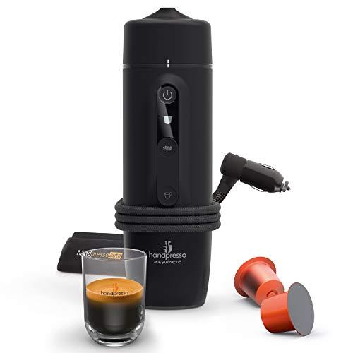 HANDPRESSO- Handpresso Auto Capsule 21020 NEUES MODELL Tragbare Espresso-Kaffeemaschine für das Auto, PKW und LKW 12V / 24V (Zigarettenanzünder) mit Nespresso® Kapseln kompatibel