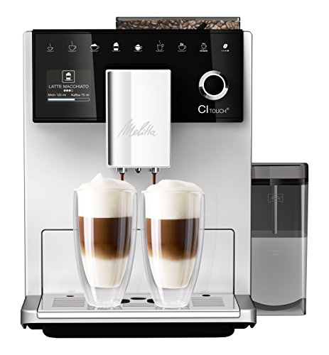Melitta Caffeo CI Touch F630-101 Kaffeevollautomat mit Milchsystem I Flüsterleises Mahlwerk I Touch Funktion I 1,8l Wassertank I silber