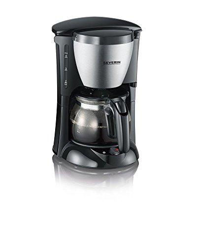 SEVERIN KA 4805 Kaffeemaschine (Für gemahlenen Filterkaffee, 4 Tassen, Inkl. Glaskanne) edelstahl/schwarz