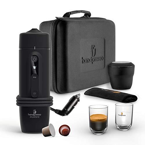 HANDPRESSO - Handpresso Auto Capsule Set 21021 – NEUES MODELL tragbare Espressomaschine für das Auto 12V / 24V (Zigarettenanzünder) schwarz - tragbare Espressomaschine für Nespresso®* Kapseln