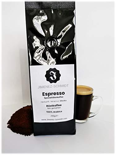 Spezialitätenkaffee aus Mexiko   Espresso fein gemahlen   Espressokaffee   100% Arabica   säurearm   langsame Trommelröstung   frische Ernte 2020   Bio Anbau   specialty coffee   250g Packung
