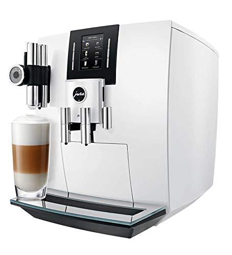 Jura J6 Espressomaschine, Weiß, 2,1 l, 16 Tassen, vollautomatisch, Espressomaschine, 2,1 l, integrierte Mühle, 1450 W, Weiß
