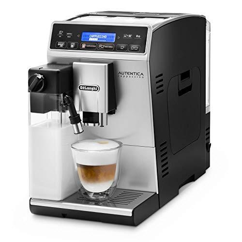 De'Longhi Autentica Cappuccino ETAM 29.660.SB Kaffeevollautomat mit Milchsystem, Cappuccino und Espresso auf Knopfdruck, Digitaldisplay mit Klartext, 2-Tassen-Funktion, silber