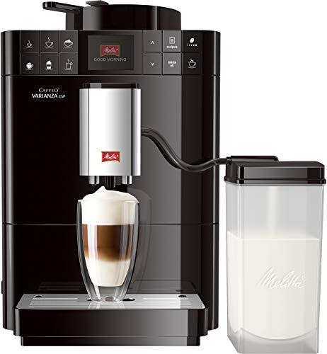 Melitta Caffeo Varianza CSP F570-102, Kaffeevollautomat mit Milchbehälter, One Touch Funktion, Schwarz