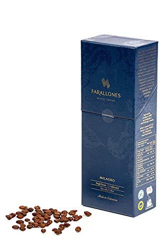 Farallones Milagro ganze Bohnen kolumbianischer Specialty Kaffee - (84+ Punkte) prämierter und voll zertifizierter kolumbianischer Single Origin Kaffee. Ideal als besonderes Geschenk