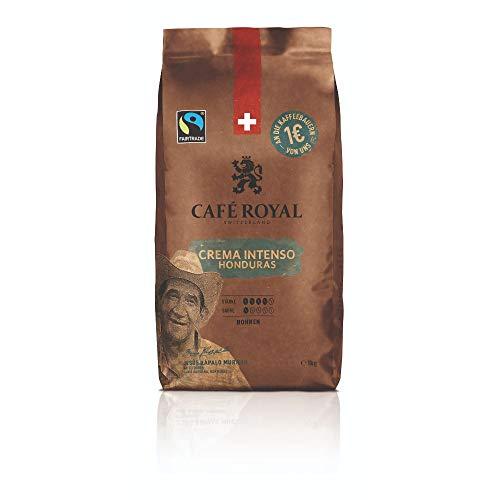Café Royal Honduras Crema Intenso Bohnenkaffee 1kg - Fairtrade - Intensität 4/5 - 100% Arabica aus Honduras
