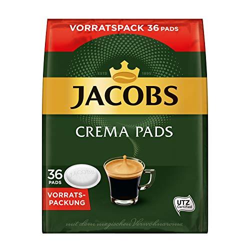 Jacobs Pads Crema Classic, 180 Senseo kompatible Kaffeepads UTZ-zertifiziert, 5er Vorteilspack, 5 x 36 Getränke