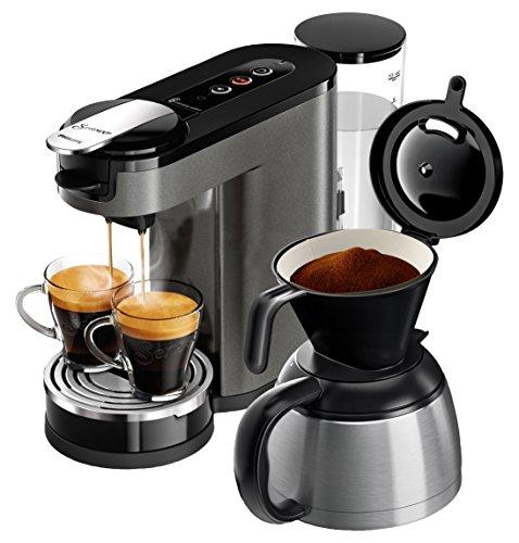 Philips Senseo HD6596/50 Switch Premium 2-in-1 Kaffeemaschine (Chrome, Metall)