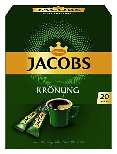Jacobs löslicher Kaffee Krönung, 160 Instant Kaffee Sticks, 8er Pack, 8 x 20 Getränke
