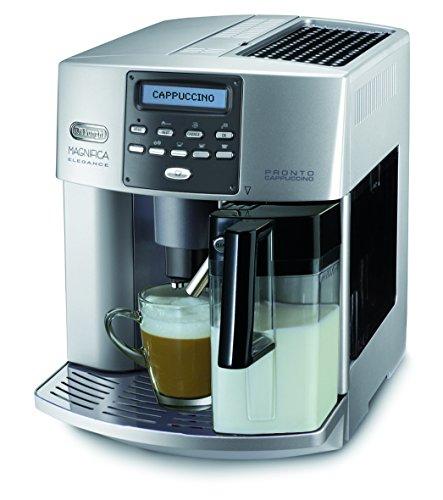 De'Longhi Magnifica Elegance ESAM 3600 Kaffeevollautomat (Digitaldisplay, integriertes Milchsystem, Cappuccino auf Knopfdruck, Herausnehmbare Brühgruppe, 2-Tassen-Funktion) silber