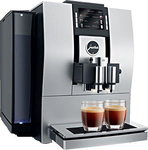 Jura Z6 Aluminium Combi Kaffeevollautomat, 2,4l, 20Tassen, mandelfarben/schwarz, freistehender Kaffeevollautomat, mit eingebauter Kaffeemühle, für Cappuccino, Espresso, Latte Macchiato, Kaffee, heiße Milch, heißes Wasser etc.