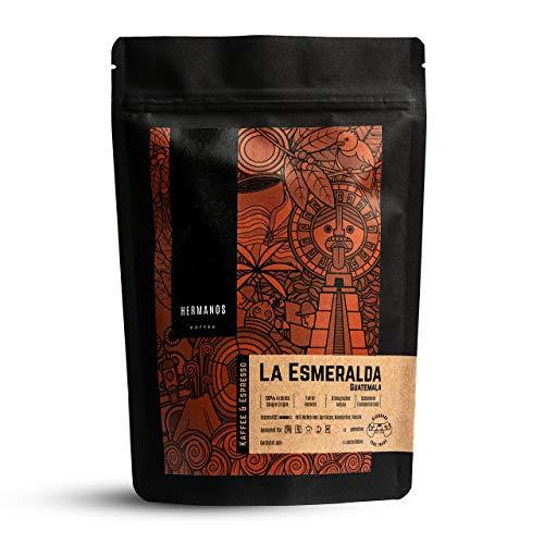 HERMANOS COFFEE   'La Esmeralda'   Spezialitätenkaffee aus Guatemala   ganze Bohne   Röstkaffee   Fair gehandelt