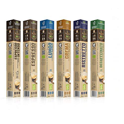 SanSiro BIO Kaffee PROBIERSET | 100% industriell kompostierbar | 60 Kapseln | für Nespresso | umweltfreundlich und CO2 neutral