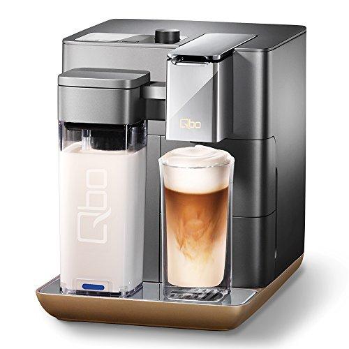 Tchibo Qbo You-Rista Kaffee Kapselmaschine inkl. Milchaufschäumer - Amazon Alexa kompatibel (Echo Dot) Urban Grey