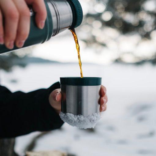 4 Thermosflaschen aus Edelstahl für heiße Getränke