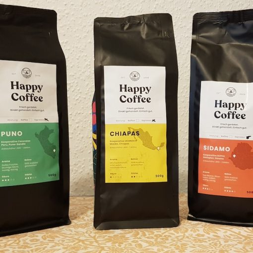 Happy Coffee Test: Chiapas, Sidamo & Puno